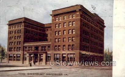 The Davenport - Iowa IA Postcard