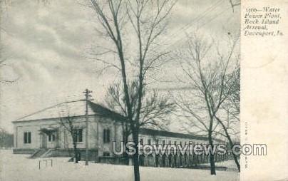 Water Power Plant, Rock Island Arsenal - Davenport, Iowa IA Postcard