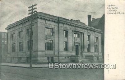 Carnegie Library - Davenport, Iowa IA Postcard