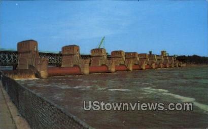 Roller Dam  - Davenport, Iowa IA Postcard