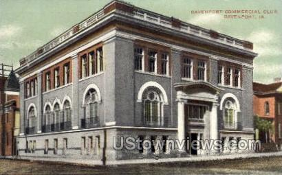 Davenport Commercial Club - Iowa IA Postcard