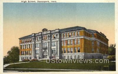 High School - Davenport, Iowa IA Postcard
