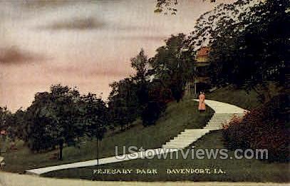 Fejeuary Park - Davenport, Iowa IA Postcard