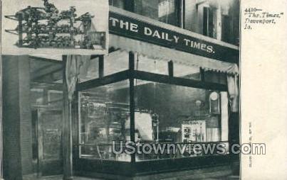 The.Times - Davenport, Iowa IA Postcard