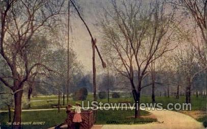 The Old Oaken Bucket, Central Park - Davenport, Iowa IA Postcard