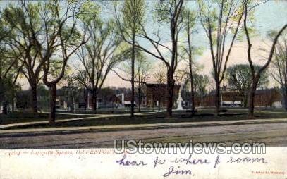 Lafayette Square - Davenport, Iowa IA Postcard