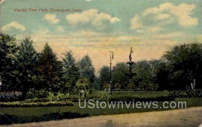 Vander Veer Park - Davenport, Iowa IA Postcard