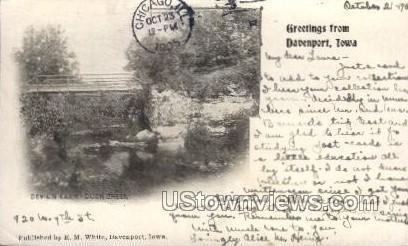 Devil's Glen - Duck Creek - Davenport, Iowa IA Postcard