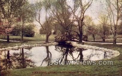 Central Park - Davenport, Iowa IA Postcard