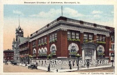 Davenport Chamber of Commerce - Iowa IA Postcard