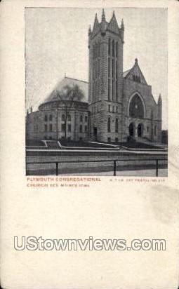 Plymouth Congregational - Des Moines, Iowa IA Postcard