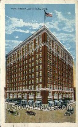 Hotel Savory - Des Moines, Iowa IA Postcard
