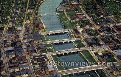 Center Street Dam - Des Moines, Iowa IA Postcard
