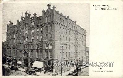 Savery Hotel - Des Moines, Iowa IA Postcard