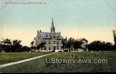 Des Moines College - Iowa IA Postcard