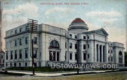 Historical Building - Des Moines, Iowa IA Postcard