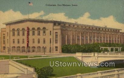Coliseum - Des Moines, Iowa IA Postcard