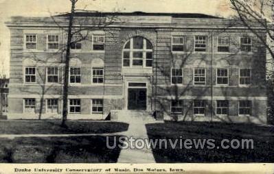 Drake University Conservatory of Music - Des Moines, Iowa IA Postcard