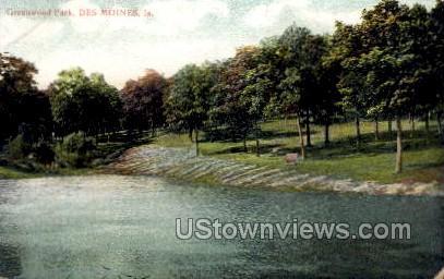 Greenwood Park - Des Moines, Iowa IA Postcard