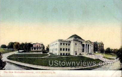 The New Methodist Church - Des Moines, Iowa IA Postcard