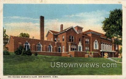 Des Moines Women's Club - Iowa IA Postcard