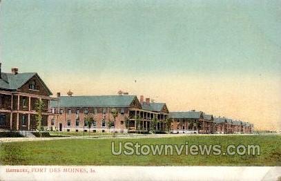 Barracks - Fort Des Moines - Iowa IA Postcard