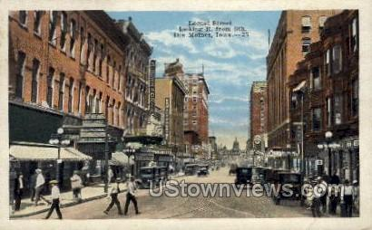 Locust Street - Des Moines, Iowa IA Postcard