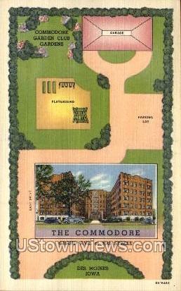 The Commodore - Des Moines, Iowa IA Postcard