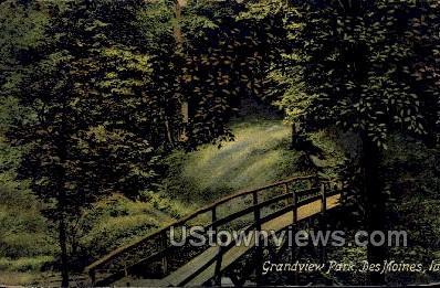 Grandview Park - Des Moines, Iowa IA Postcard