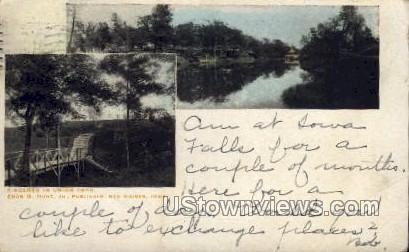 Scene in Union Park - Des Moines, Iowa IA Postcard