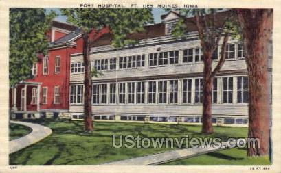 Post Hospital  - Des Moines, Iowa IA Postcard