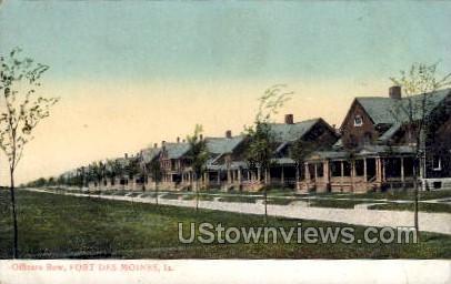 Officers Row - Des Moines, Iowa IA Postcard