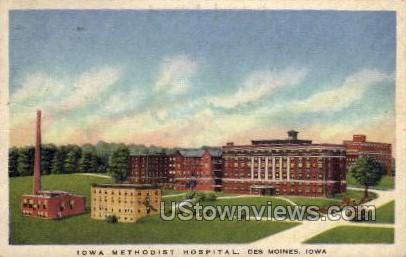 Iowa Methodist Hospital - Des Moines Postcard