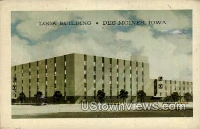 Look Building - Des Moines, Iowa IA Postcard