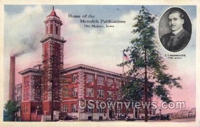 Home of the Meredith Publications - Des Moines, Iowa IA Postcard