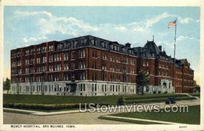 Mercy Hospital - Des Moines, Iowa IA Postcard
