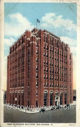 New Telephone Building - Des Moines, Iowa IA Postcard