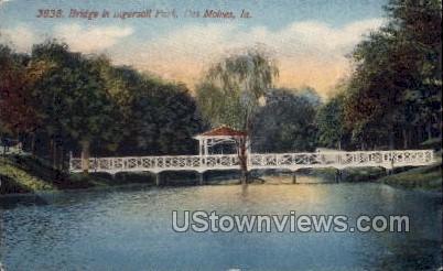Bridge In Ingersoll Park - Des Moines, Iowa IA Postcard