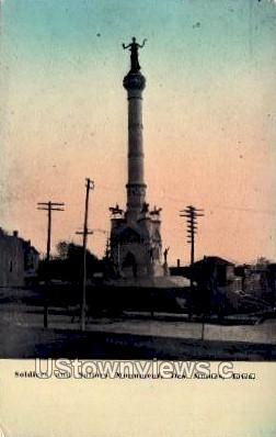 Soldiers' and Sailors' Monument - Des Moines, Iowa IA Postcard