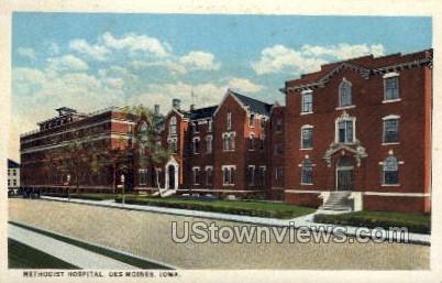 Methodist Hospital - Des Moines, Iowa IA Postcard