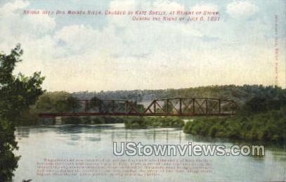 Bridge Over Des Moines River - Iowa IA Postcard
