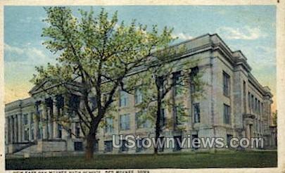 New East Des Moines High School - Iowa IA Postcard