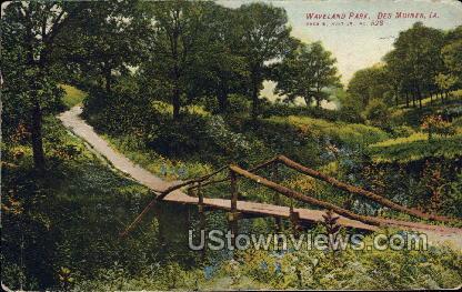 Waveland Park - Des Moines, Iowa IA Postcard