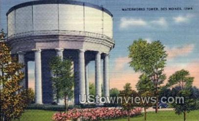 Waterworks Tower - Des Moines, Iowa IA Postcard