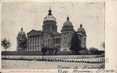 Iowa State Capitol - Des Moines Postcard