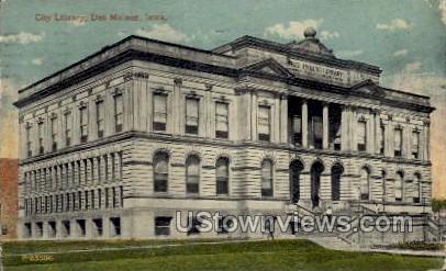 City Library - Des Moines, Iowa IA Postcard