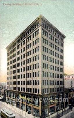 Fleming Building  - Des Moines, Iowa IA Postcard