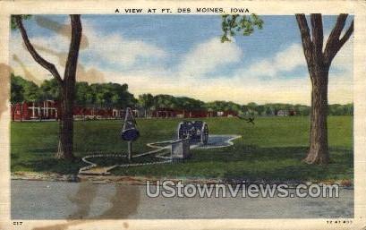 A View at Ft. Des Moines - Iowa IA Postcard