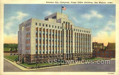 Bankers Life Company - Des Moines, Iowa IA Postcard