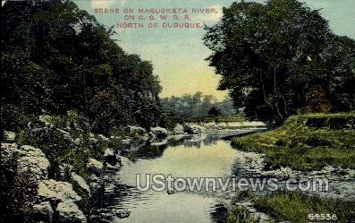 The Maquoketa River - Dubuque, Iowa IA Postcard
